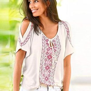 CATHERINE Boho Print Tunic Top